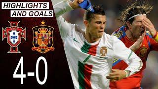 Portugal vs Spain 4-0 | Highlights & Goals | Classic Match 2010 | Cristiano Ronaldo vs Iniesta Xavi