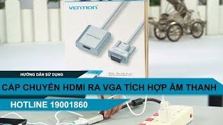 Cáp chuyển VGA ra cổng HDMI có tích hợp dây audio 3.5mm Vention ACEW0