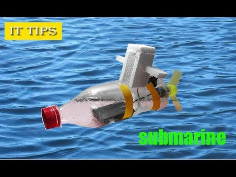 how to make a mini submarine with dc motor at home Diy Toy 2017