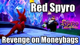 SPYRO REIGNITED TRILOGY [PS4 PRO] Gameplay - RED SPYRO gets Revenge on MONEYBAGS (BURN HIM!)