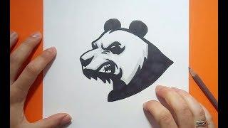 Como dibujar un oso panda paso a paso 5   How to draw a panda 5