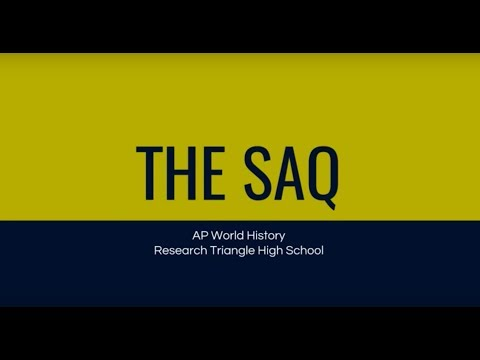 Introduction to the SAQ
