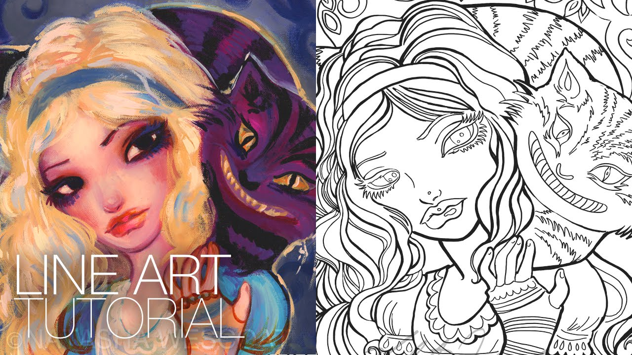 How to Create a Coloring Page Photoshop CS6 Natasha WESCOAT