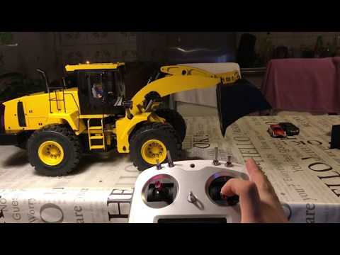 UNBOXING RC FRONTLOADER HYDRAULIC FULLYMETAL RC WHEEL LOADER LIGHTS & SOUND (Aliexpress Tiantian)