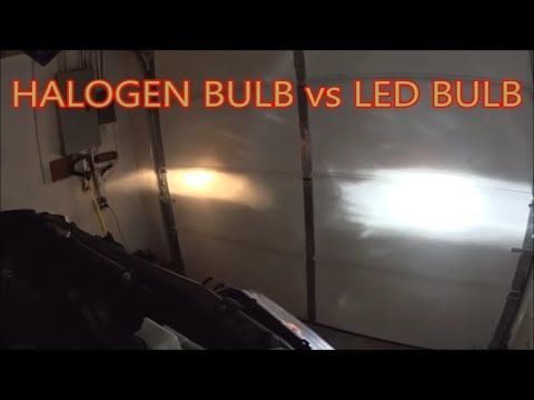 oedro h11 led bulbs vs h11 halogen factory bulbs better than opt7 youtube. Black Bedroom Furniture Sets. Home Design Ideas