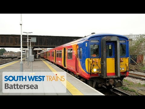 London: South West Trains services at Queenstown Road (Battersea)
