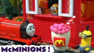 Despicable Me 3 Minions McDonalds Drive Thru Play Doh Burger Happy Meal Toys Cars Thomas Train TT4U