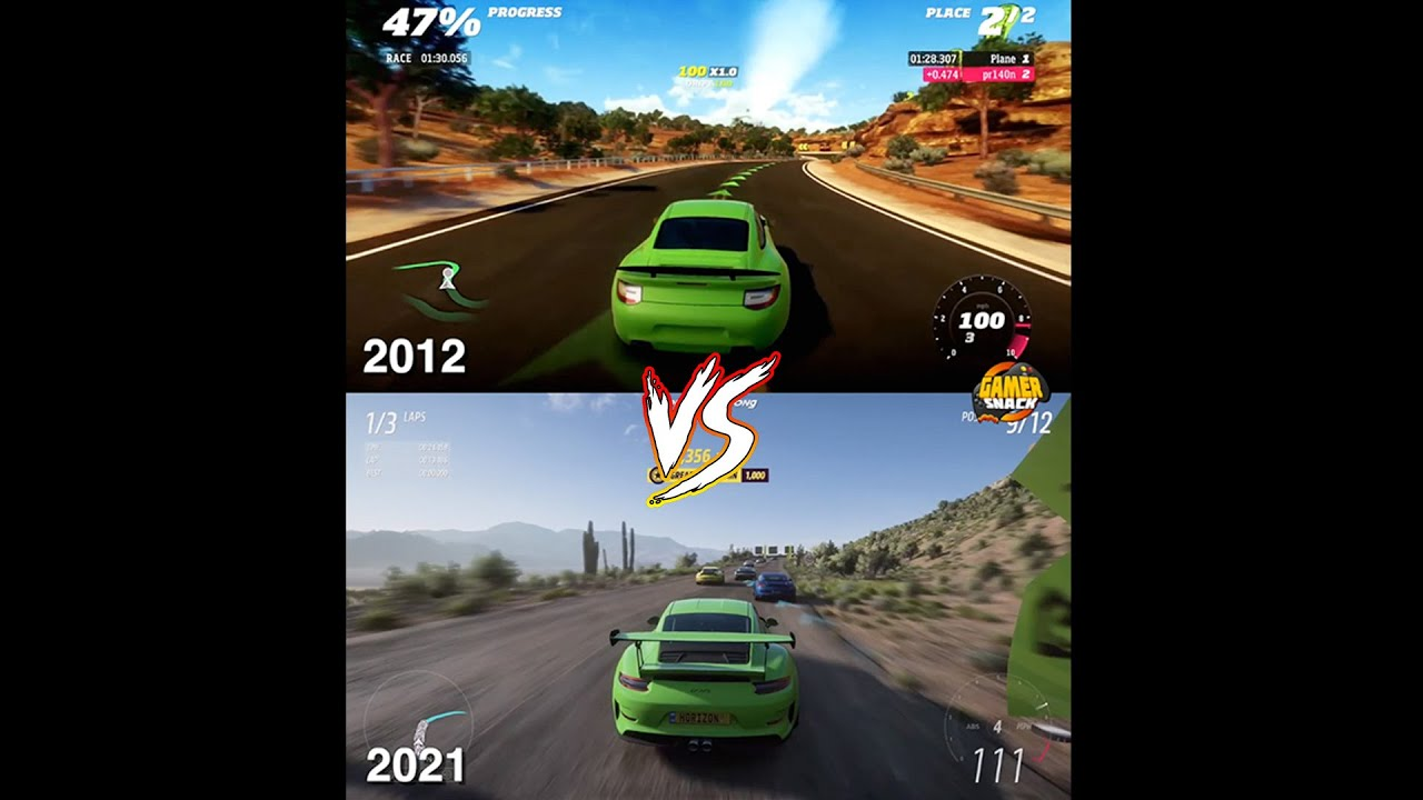 Forza Horizon 2012 vs 2021 #Shorts