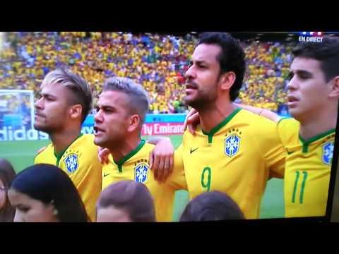 Brésil - Mexique hymne a capella