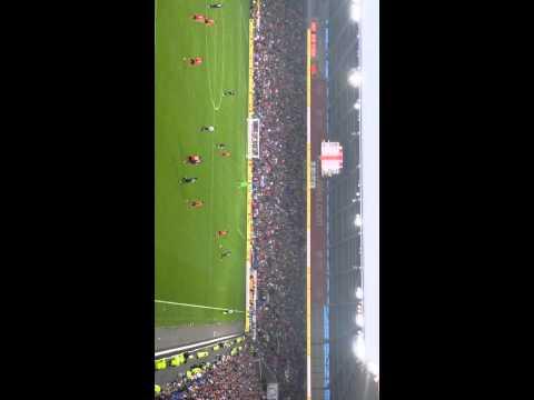 Cardiff City VS Tottenham Hotspur, Spurs fans Paulinho Goal