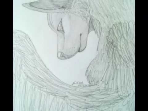 Drawing A Wolf With Wings