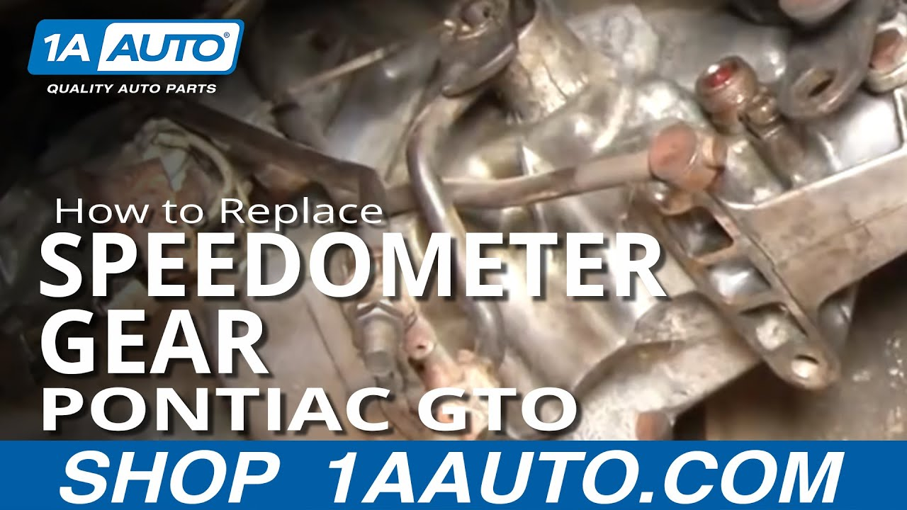 hight resolution of how to replace speedometer gear 64 74 pontiac gto