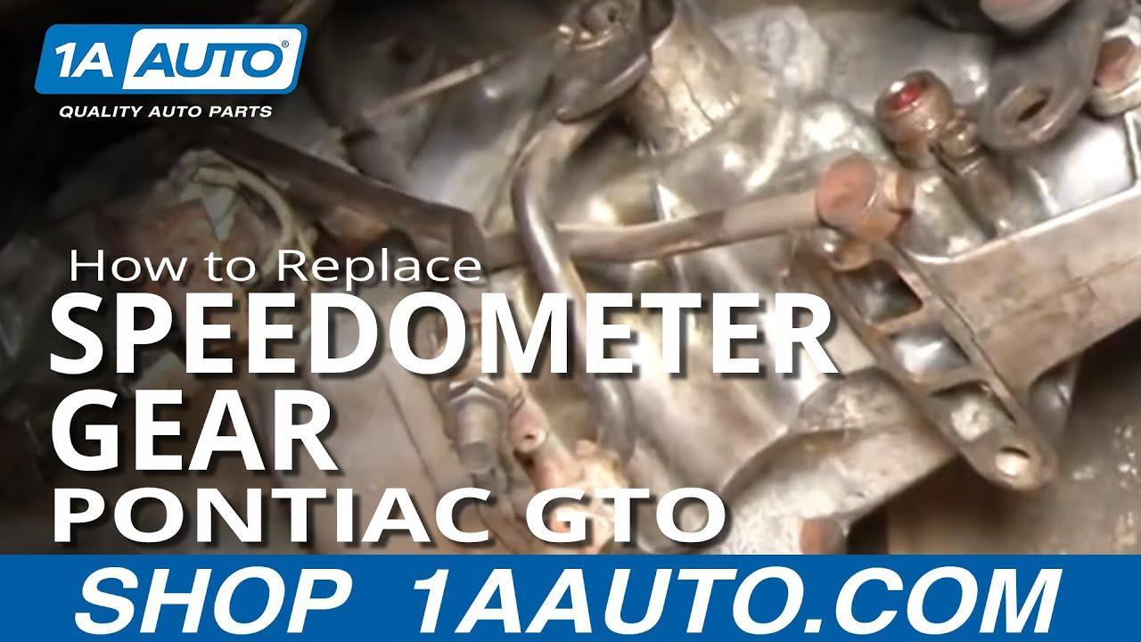 medium resolution of how to replace speedometer gear 64 74 pontiac gto