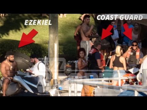 Ezekiel Elliot in BIG Trouble at ANOTHER Boat Party!!