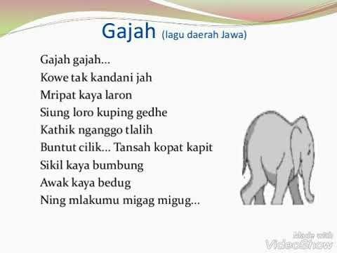 Lagu Daerah Jawa Tengah, Gajah-gajah