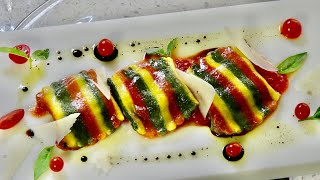 Tri-Color Pasta Ravioli – Bruno Albouze – THE REAL DEAL