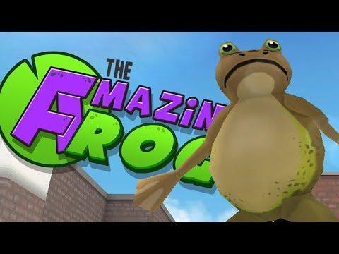 Amazing Frog Having Lots Of Fun