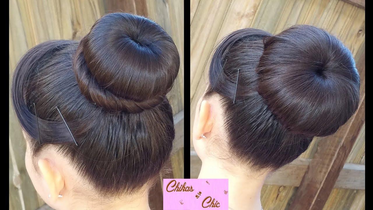 hair style classic donut bun 2