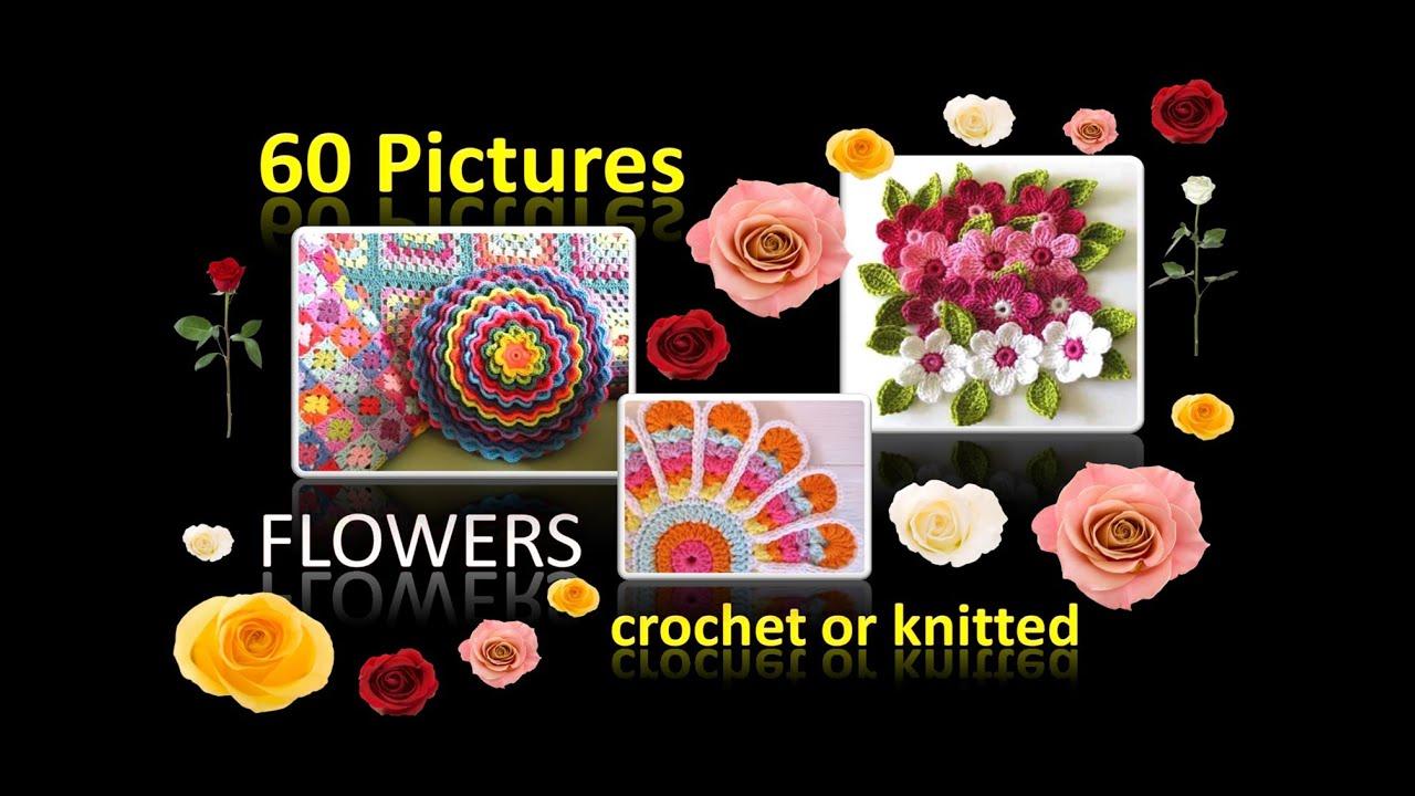 Häkeln Stricken Blumen - 60 Bilder von schicken Blumen - gehäkelt ...