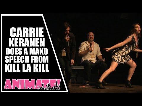 Carrie Keranen Does a Mako Speech from Kill La Kill at Animate Miami Nov 2014