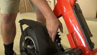 How to adjust the rear shock on a Finn Scooter