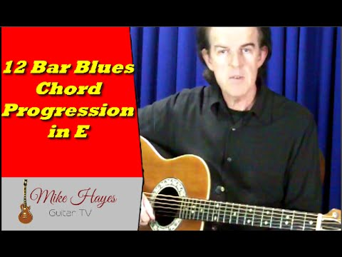 Blues Guitar Chords 12 Blues Chord Progression In The Key Of E
