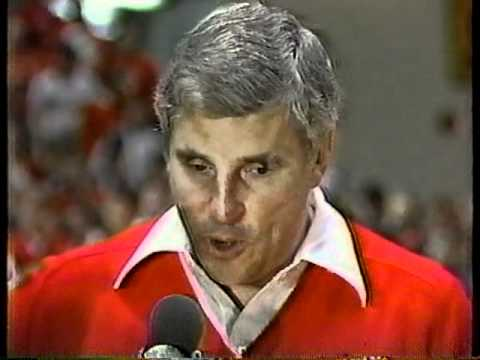 INDIANA BASKETBALL POSTGAME WITH BOB KNIGHT & STEVE ALFORD 1987