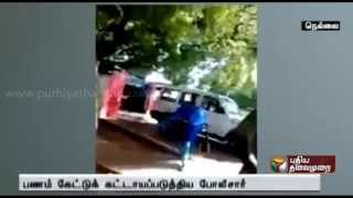 Nellai: TN Police forcing to pay money from couple who came for a complaint spl tamil video news 29-08-2015