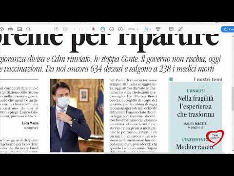 I giornali in edicola - la rassegna stampa 09/12/2020