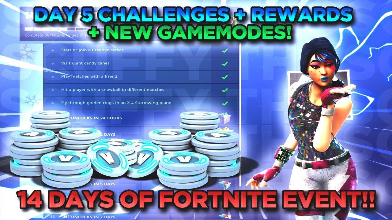 Day 5 Of 14 Days Of Fortnite Challenges New Ltm Rewards Fastest