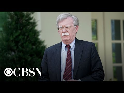 President Trump has fired national security adviser John Bolton, live stream