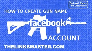 How To Create Gun Name Facebook Account Without Proxy ! Make Long Name Ak 47 Gun Fb Id
