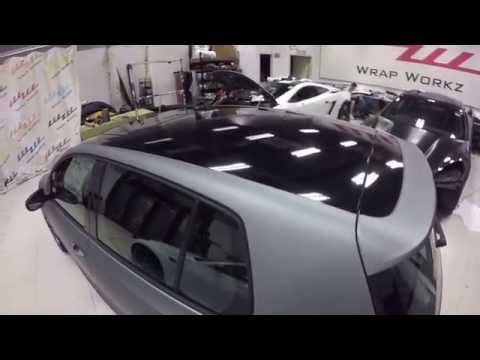 Matte Frozen Grey VW Golf R MKVi by Wrap Workz Hong Kong (GoPro Details)