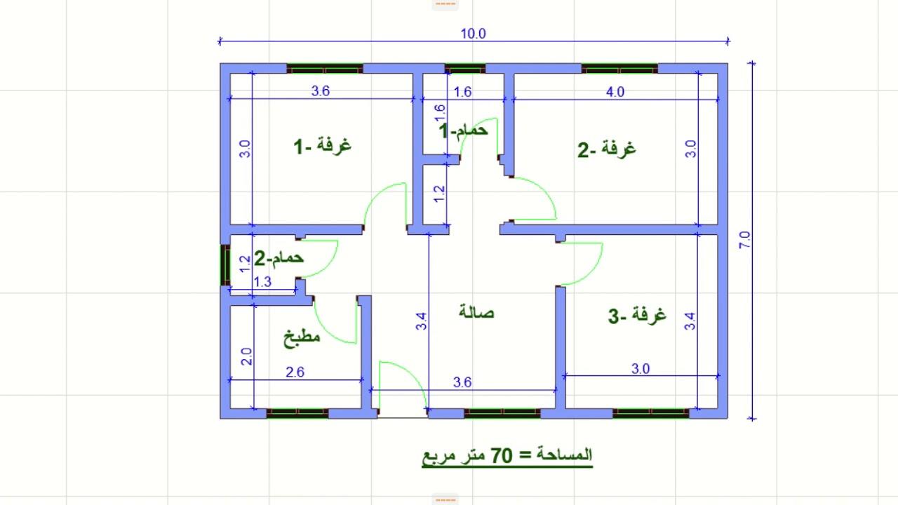 تصميم شقة 70 متر from i.ytimg.com