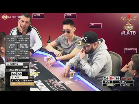 Triple Barrel Bluff with 9 High Like a Boss ♠ Live at the Bike!