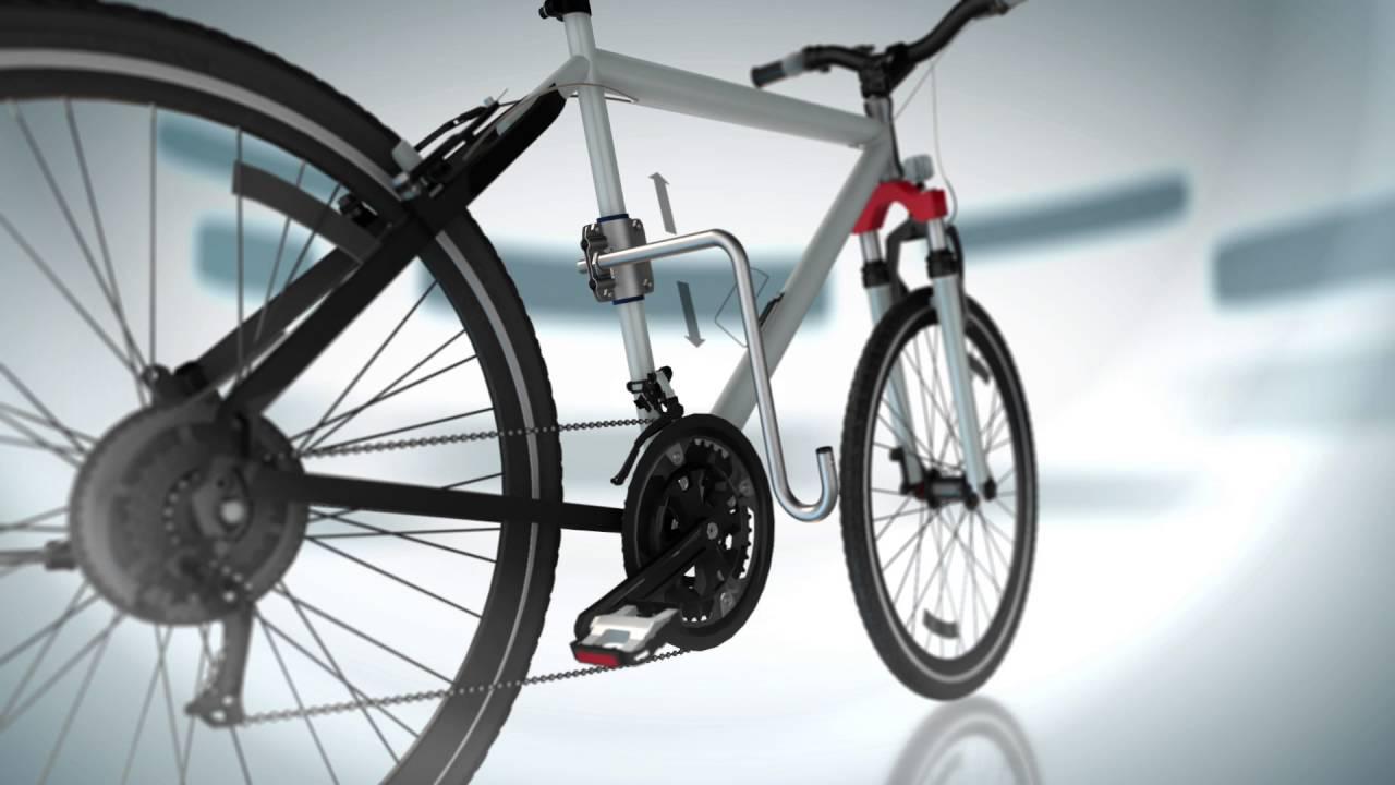 fahrradhalter dogrunner von kleinmetall unterwegs mit hund am fahrrad youtube. Black Bedroom Furniture Sets. Home Design Ideas