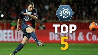 Zlatan Ibrahimovic - Top 5 Free Kicks - Ligue 1 / PSG