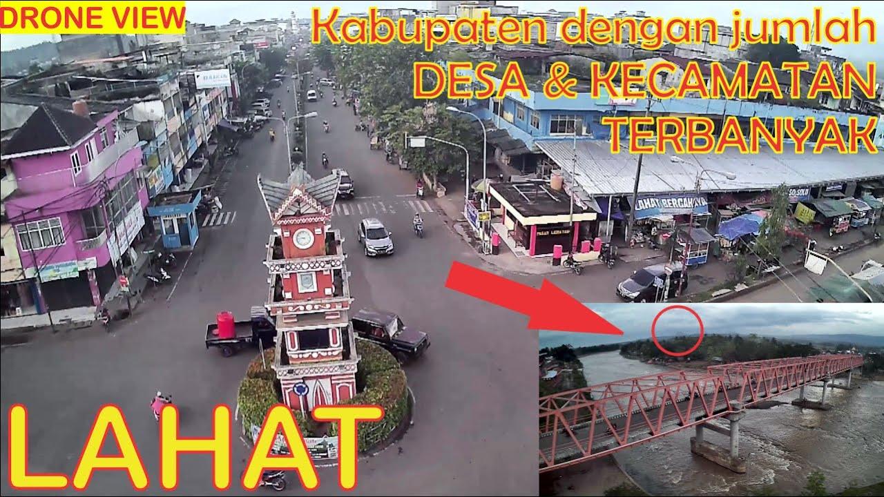 Download TERBANG di Langit ibukota Kabupaten Lahat. Tugu Kota & Jembatan Benteng.