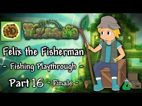 Terraria 1.3 Fisherman Challenge Part 16 Finale: Felix vs Duke Fishron! (1.3 fishing playthrough)