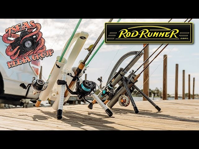 Inshore to Offshore to Bank Fishing with ROD-RUNNER Fishing Racks (7 Seas)