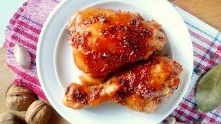 Куриные ножки запеченные в духовке  с медом и горчицей  с хрустящей корочкой рецепт