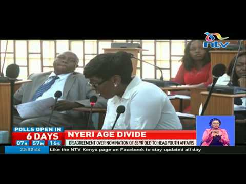 Disagreement over nomination of 65 year old to head youth affairs