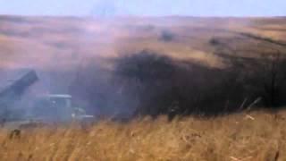 ДНР Ополченцы бьют из установок «Град» 28 11 Донецк War in Ukraine