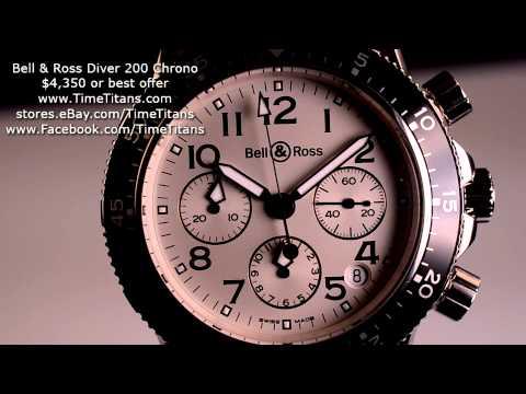 Bell & Ross Diver 200M Chronograph Tri-Compax BNIB Sapphire Exhibition 41MM