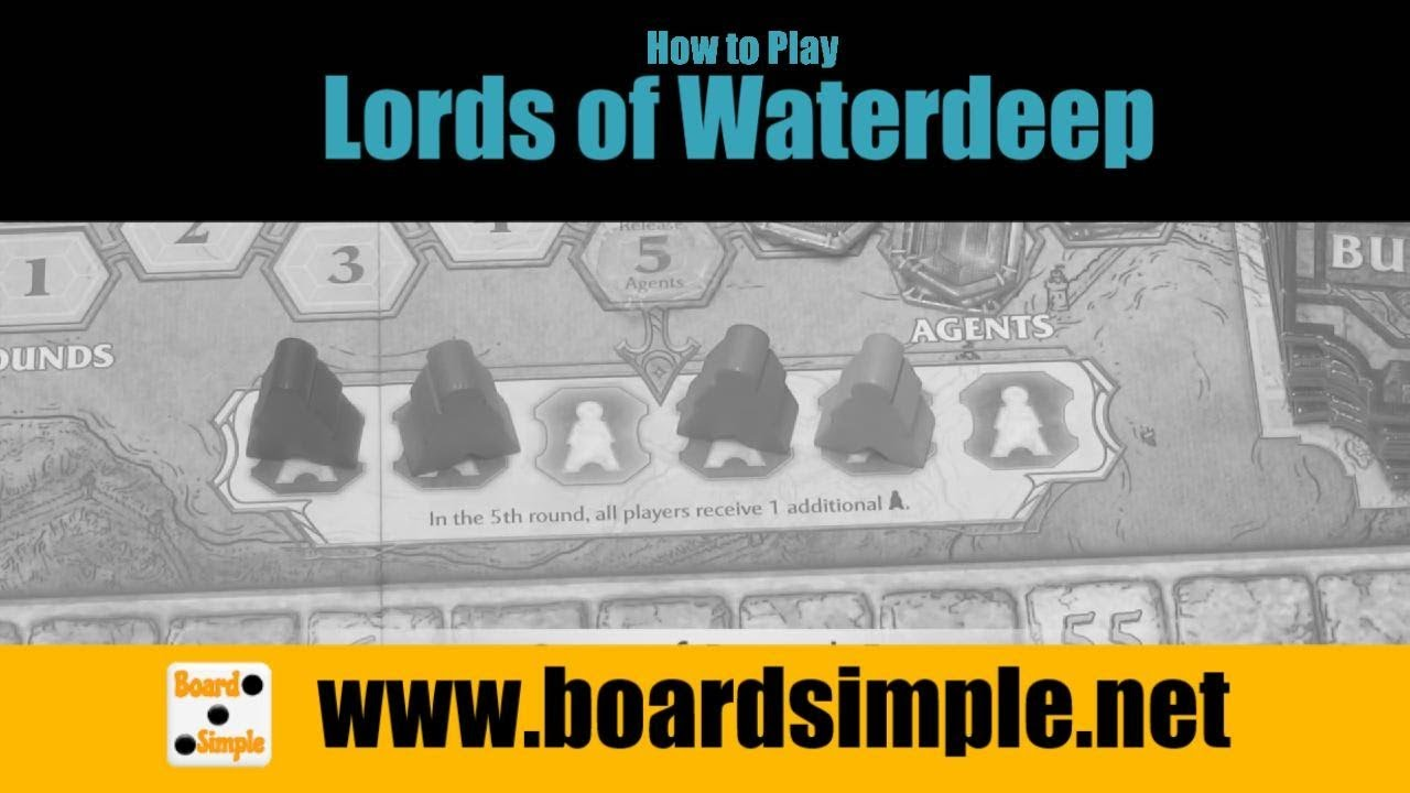 Lords Of Waterdeep: How To Play - Simplified - Hexagamers