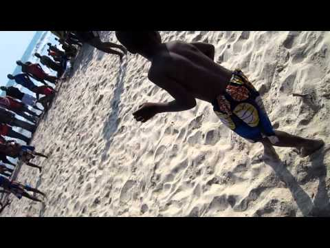 Kids Dancing and Drumming on the Beach in Ghana, Africa thumbnail