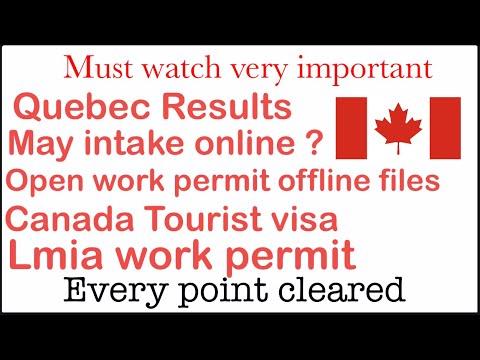 Q/A Quebec colleges PPR open work permit results tourist visa lmia work permit may intake offline
