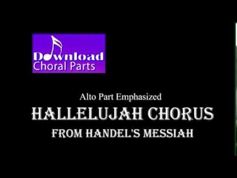 Hallelujah Chorus  Handel Alto Part Emphasized