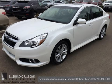 Pre Owned White on Black 2013 Subaru Legacy 4dr Sdn Auto Walk Around Review - Sherwood Park, Canada