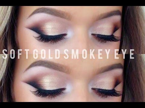 Soft Gold Smokey Eye Makeup